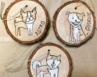 Custom Pet Ornament, Send Photo and Name