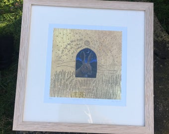 Window on the Wild Land oak framed, signed, limited edition print
