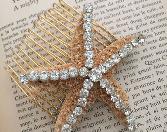 Wedding Hair Accessory - Starfish Wedding Hair Comb - Starfish Comb - Beach Wedding - Wedding Hair Comb - Sea Star Wedding Comb Headpiece