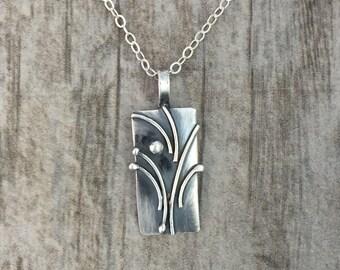 Sterling pendant, tree pendant, handcrafted, regina marie designs