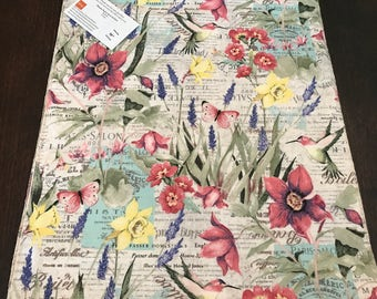 Spring Table Runner |  Tulip Runner | Butterfly Runner | Summer Table Runner | Garden Table Runner | Bird Table Runner | Nature Runner Decor