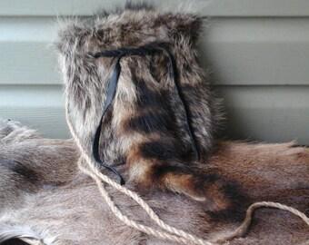 Raccoon Pelt Possibles Bag