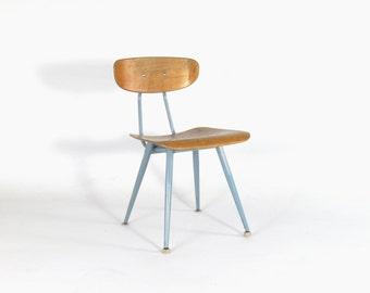 Vintage Industrial/Mid Century Modern Plywood School Chair (Adult Sized)