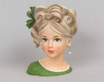 Lady Head Vase Etsy