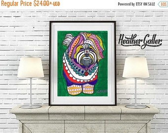 50% Off Today- Heather Galler Purebred Coton De Tulear Dog Portrait Unique Art art dog  Art Print Poster by Heather Galler (HG512)