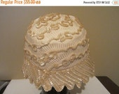 On Sale Vintage valerie modes hat Cloche Sequined