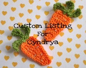 Reserved for Cyndrya: 4pcs - Carrot Crochet Applique