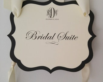 Wedding Bridal Suite Sign also Use as Church Door Signs and Directional Signage