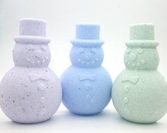 Large Snowman Bath Bomb - bath fizzy, bath fizzies, bath bombs, frosty, winter, stocking stuffer, general winter holiday, not christmas