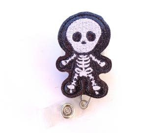 Radiology badge reel id holder - You See Right Through Me - black glitter vinyl badge reel - Skeleton radiologist radiology Xray tech