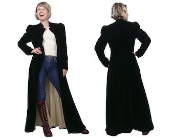 1930s Black Velvet Opera Coat XS/S