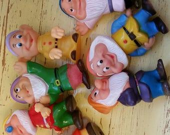 walt disney set of seven dwarfs