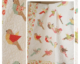Feathers Pattern by The Pattern Basket - Bird Quilt Pattern - Layer Cake Quilt Pattern