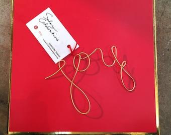JOY - Wire Ornament