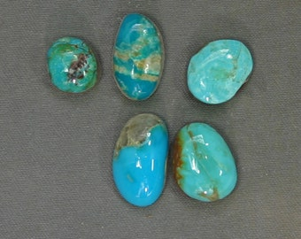 Turquoise cabochons lot Kingman and assorted mines,  B-152