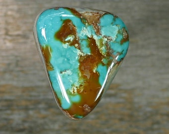 Turquoise cabochon Pilot Mountain mine very large cab,  B-173