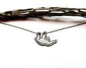 Sterling Silver Sloth Pendant
