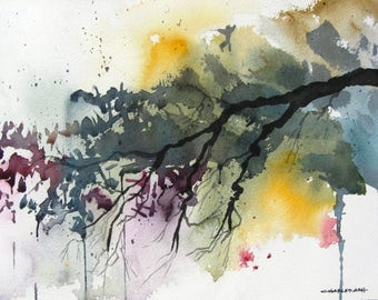 Spring Wilderness - Original Watercolor Painting
