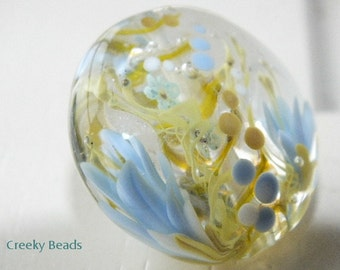 Handmade Lampwork Focal bead 'Cornflower!' Creeky Beads SRA