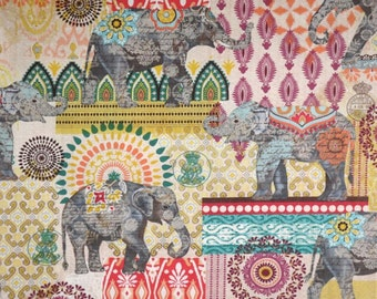 Exotic Suzani Elephant Collage by Timeless Treasures