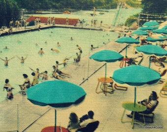 Summer Art, Beach Art, Beach Wall Art, Swimming Pool Decor, Summer Wall Art, Swimming Pool Photograph, Beach Bedroom Art, Bedroom wall art