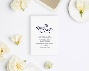 Wedding Invitation Sample - The Seaside Suite