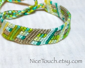 SUMMER SALE!!! Free Shipping or Save 20% ~ Under the Sea knotted cotton friendship bracelet ~ Made to Order