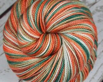 WINTER at BRYCE CANYON: Superwash Merino Wool-Nylon - Fingering / Sock Weight Yarn - Hand dyed sock yarn - Variegated - High twist yarn