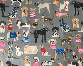 Hot Dogs and Cool Cats by Carolyn Gavin for Windham Fabrics GOTS Certified Organic Cotton