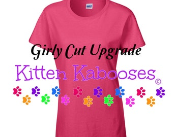 UPGRADE to Ladies Cut T-shirt