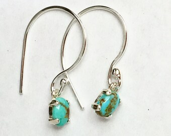 Natural Turquoise Dangle Earrings