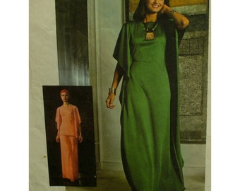 "Fitted Waist caftan Pattern, Tunic, 70s, Pants, Stretch fabric, Stitched Sides, Three Pieces, Simplicity No. 7211 Size 16 (Bust 38""97cm)"