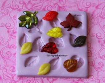 Silicone Leaf Mold Fondant Leaf Mold Chocolate Mold Polymer Clay Resin Leaves Mold Autumn Leaves Maple Leaf Moulds