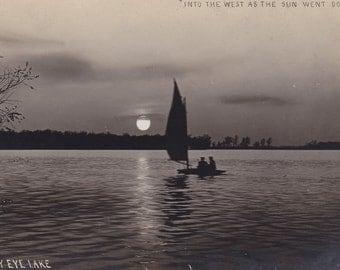 Real Photo Postcard - Sleepy Eye Lake, MN - Unused Vintage Post Card