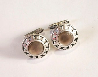 Tan Mother of Pearl Cuff Links