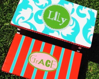Step Stool for Girls Painted with Your Color Choices