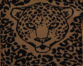 womens vintage leopard print sweater