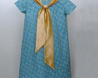 Girls Clothing,Girls Tie Dress, Girls School Dress ,Girls Portrait Dress, Girls Dress Size 7 Ready to Ship
