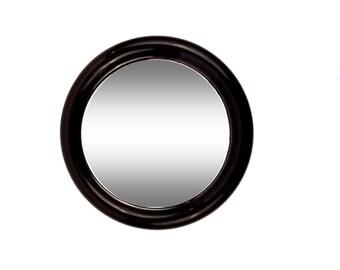 Mod Black Plastic Round Mirror by Interdesign