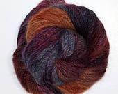 "Hand Dyed Yarn handspun Mink ""Carpe that Diem"""