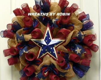10% OFF RWB Rustic Wreaths, Patriotic Wreaths - Item 2567