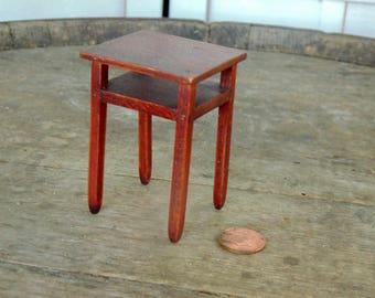 Doll House Table. TynieToy Miniature. TynieToy Furniture. TynieToy Table. Mini End Table. Miniature Table. Wooden table. miniature gift idea