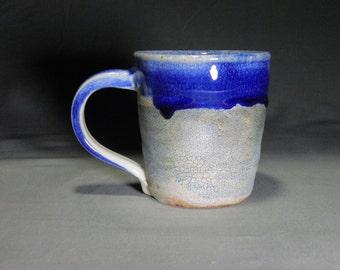 12oz Coffee mug.  Handmade coffee cup. Wheel thrown cup.  Soda fired mug.  Rustic mug.