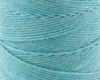 Tools & Supplies-3-Ply Irish Linen Cord-Waxed-Turquoise-Crawford Threads-Quantity 10 Yards