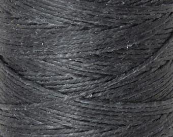 Tools & Supplies-4-Ply Irish Linen Cord-Waxed-Charcoal Grey-Quantity 10 Yards