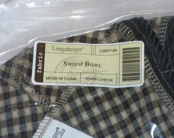 Longaberger Swoop Bowl Liner