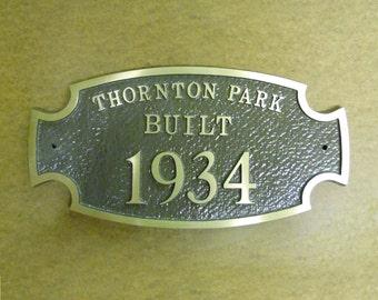Custom Cast Aluminum Address/Pet/Garden Plaque -A3