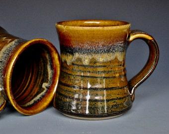 Pottery Mug Stoneware Ceramic Coffee Cup Handmade Mug Randy Red