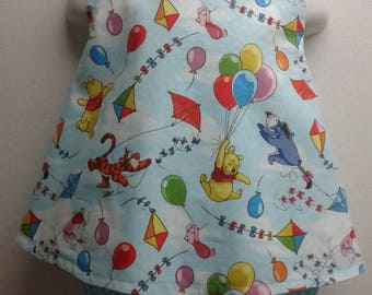Baby Girl Cross Back  Pinafore With Bloomers  in Sizes New Born - 3T  Winnie, Tigger, Kites