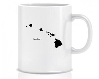 Hawaii Hometown, Coffee Mug, Custom, Custom Mug, Coffee Cup, Custom Coffee Cup